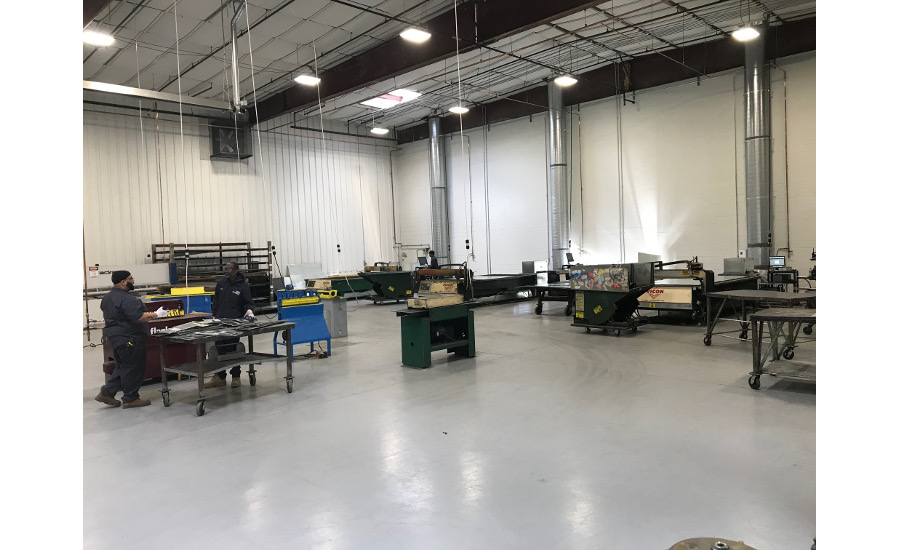 Here's a view of EMC Mechanical's three Vicon Machinery 10-foot plasma tables along with some form-up equipment, including a Flagler machine. EMC2.jpg