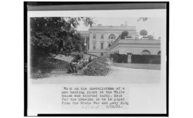 hvac at the white house in 1923