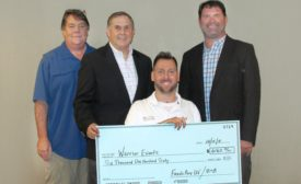Fresh-Aire UV presents check to veteran