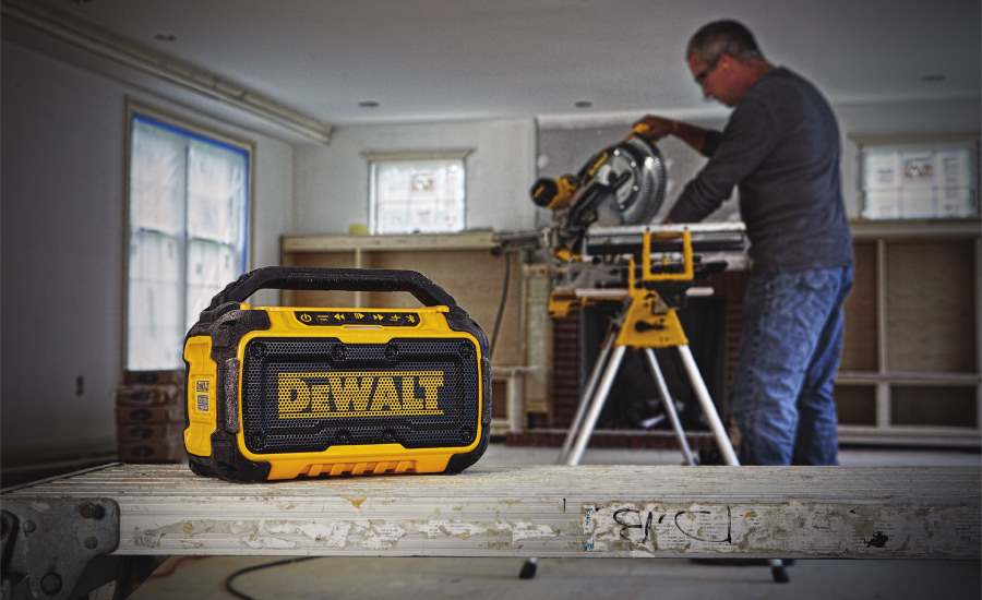 Jam at your job site with the DEWALT Bluetooth Speaker
