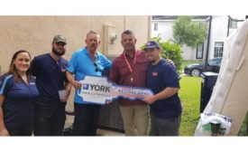 Army Master Sergeant Eric Beckdol received his mortgage-free home from Building Homes for Heroes in late 2018 featuring a donated YORK® HVAC system installed by Laco Air Conditioning.