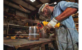 DEWALT Angle Grinder in use