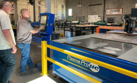 The Beast plasma cutting table by Production Products Inc
