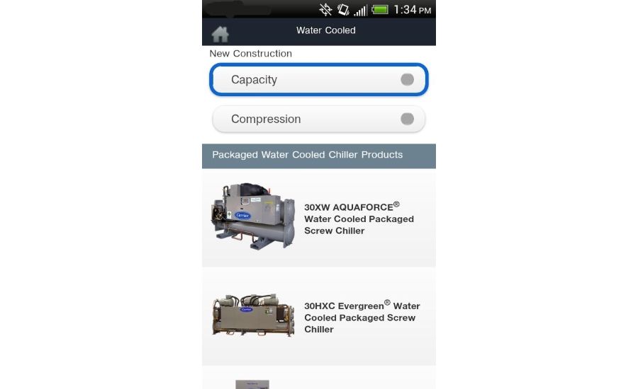 Carrier chiller mobile app