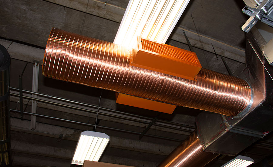 Copper ductwork
