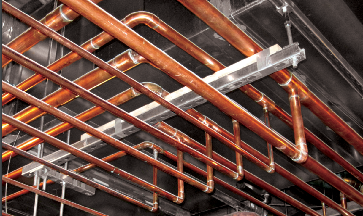 Copper tubing for plumbing
