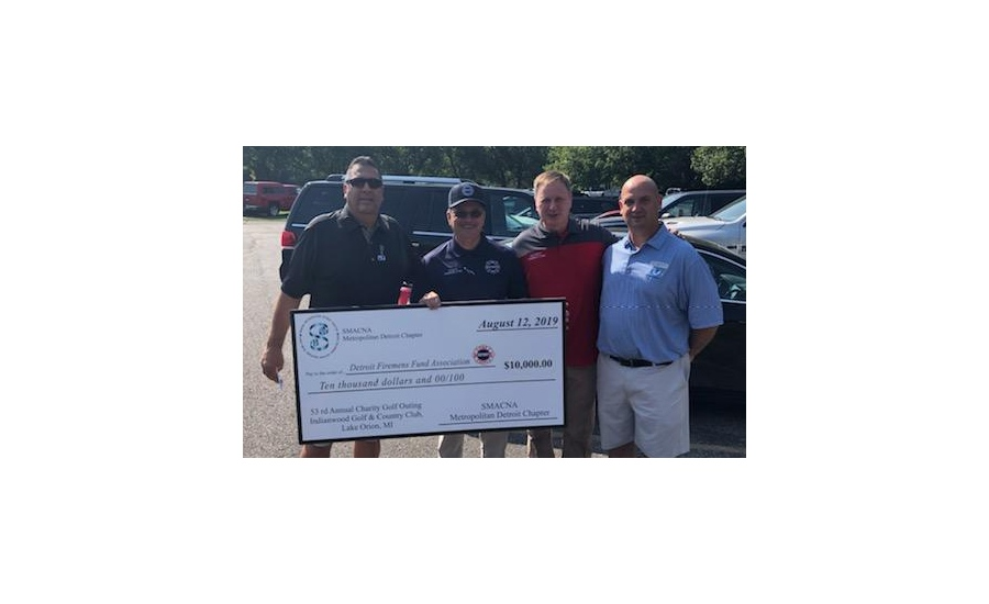 SMACNA Detroit donates to Detroit Firefighters Fund