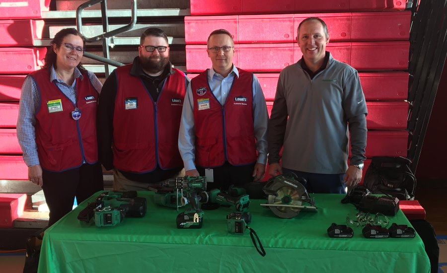 Metabo and Lowes team at high school event