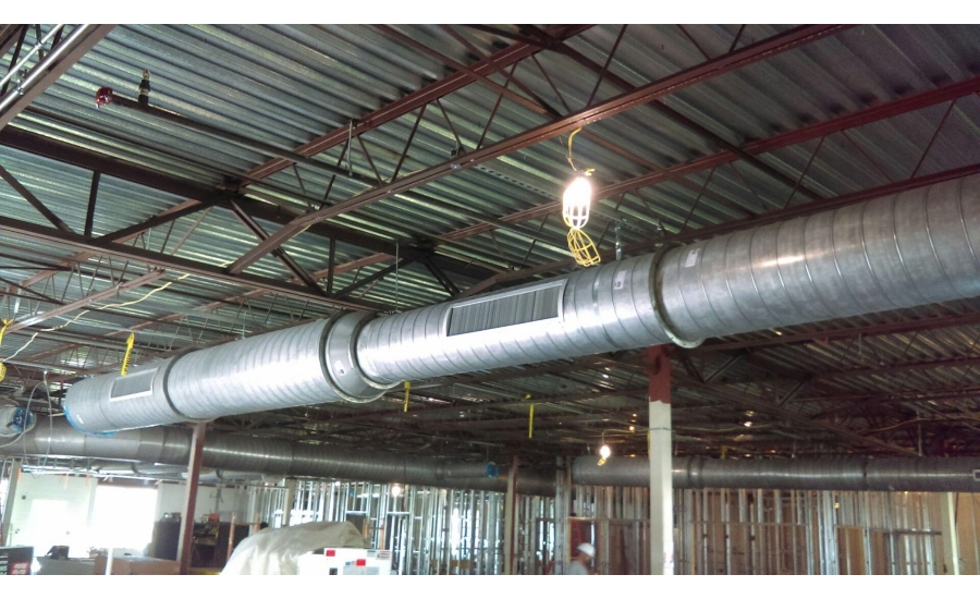 spiral ductwork in ceiling