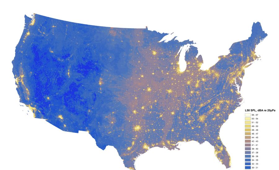 Noise pollution map