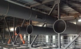 Spiral ductwork in Ole Miss Arena