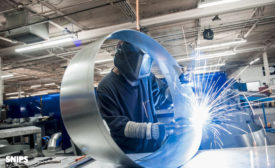 Ductwork welding at SET Duct Manufacturing