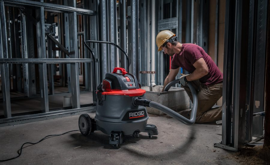 RIDGID's redesigned wet/dry vac is a clean job site's best friend