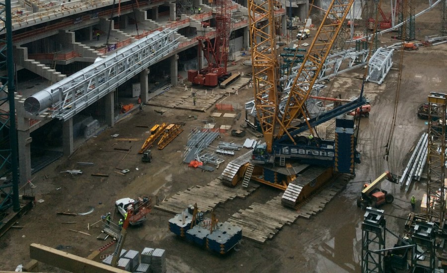U.S. Bank Stadium under construction