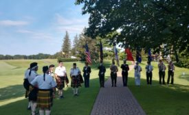 Color guard at SMACNA Detroit fundraiser for Firefighter Fund