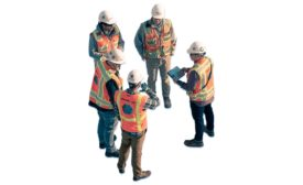 construction contractors in a circle