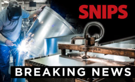 SNIPS Breaking Sheet Metal News