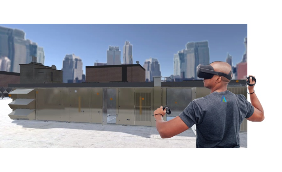 Johnson Controls ducted systems academy virtual reality demonstration