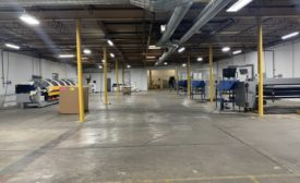 sheet metal supply facility brake room