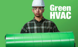 green heating and cooling duct