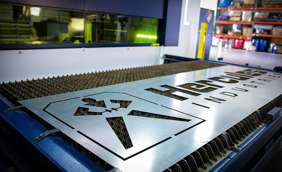 Hercules Industries sheet metal sign