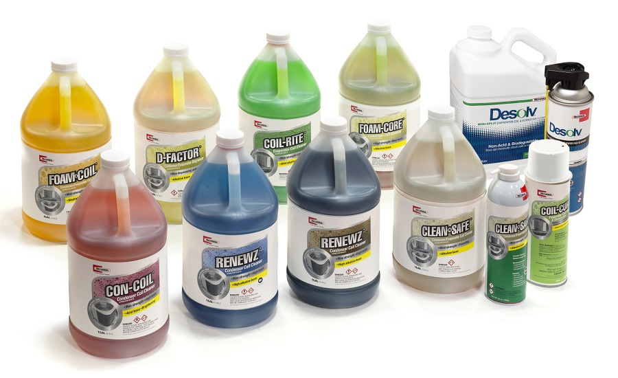 RectorSeal's color-coded HVACR coil cleaners