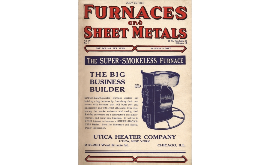 Furnaces and Sheet Metals 1924 Cover