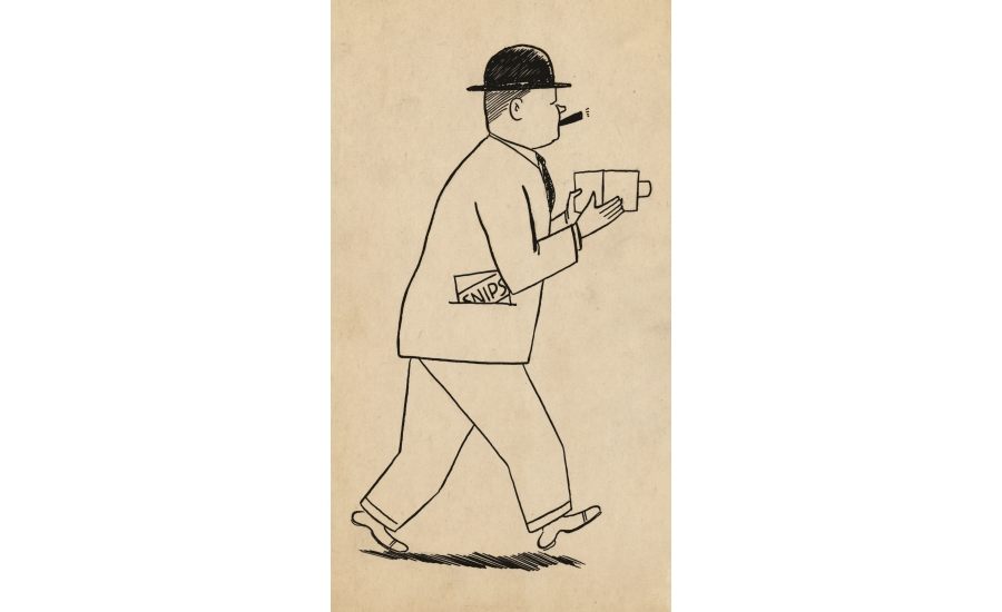 Edward Carter caricature