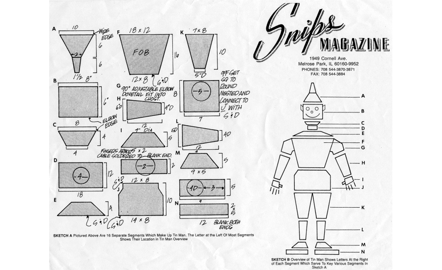 Tin man instructions for sheet metal