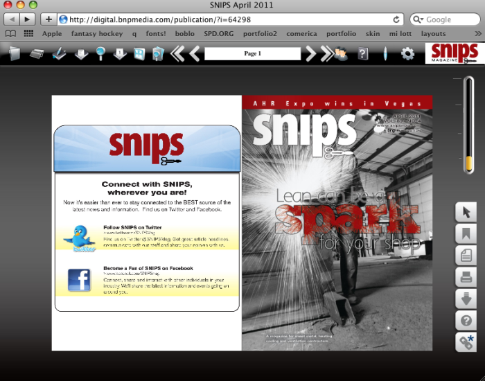 SNIPS Magazine Website