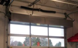 Toyota service area air curtain