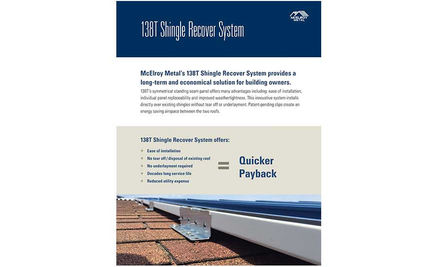 McElroy Metal's brochure highlights benefits of standing seam panels