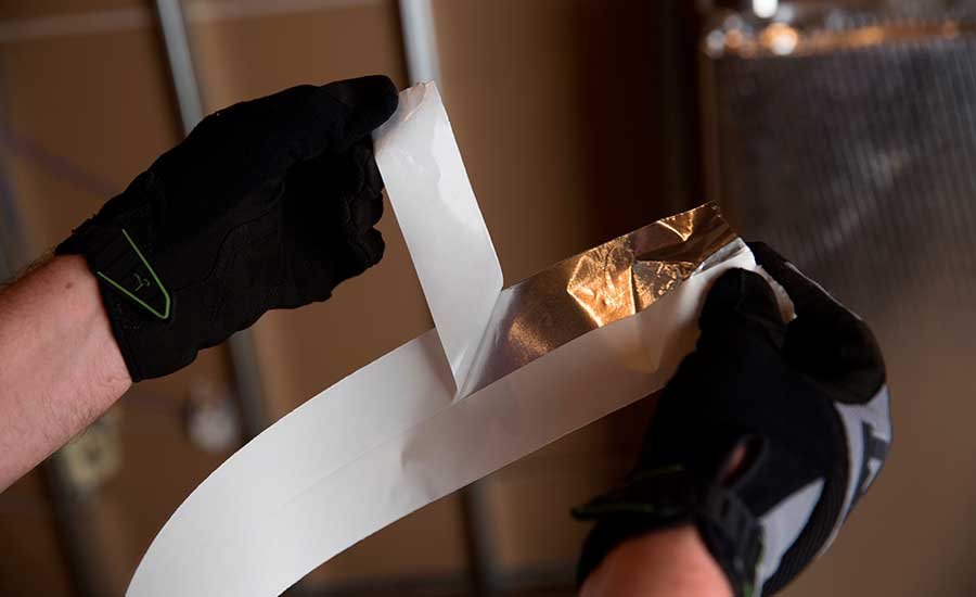 Aluminum foil tape allows for easy start