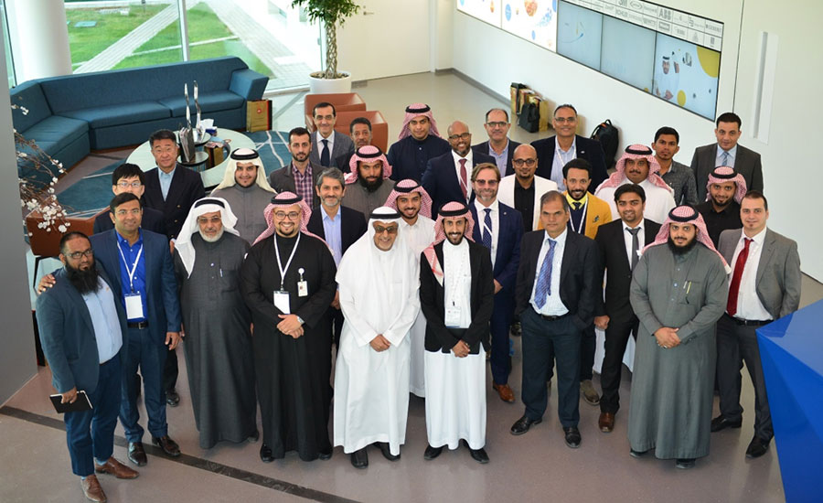 Representatives from AMCA and Sabic gathered in Riyadh, Saudi Arabia, for a technical seminar on HVAC topics such as indoor air quality.