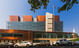 The Staten Island Courthouse is now clad with four copper towers of justice