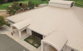 Metal roof installed on Air Force military base