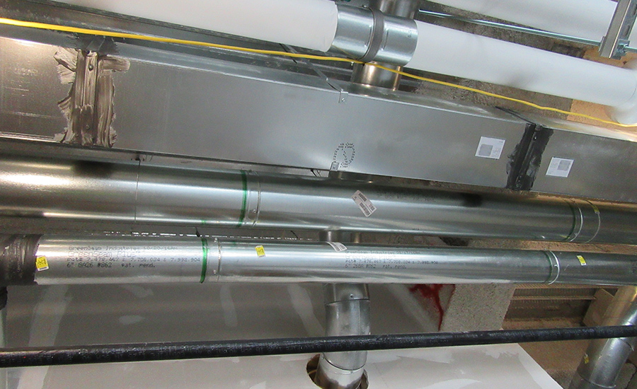Illinois hospital project cures its fabrication problems with snap-lock pipe