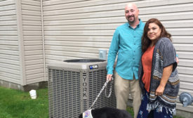 Company installs donated HVAC system for veteran