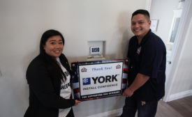 Contractor installs donated HVAC system for veteran's new home