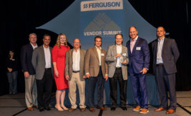 Ferguson awarded DiversiTech Corp. its HVAC Vendor of the Year Award.