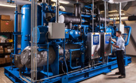 The industrial refrigeration system at Emerson's Helix Innovation Center