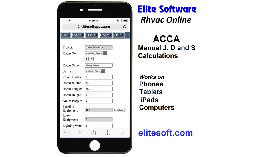 Elite Software releases RHVAC app