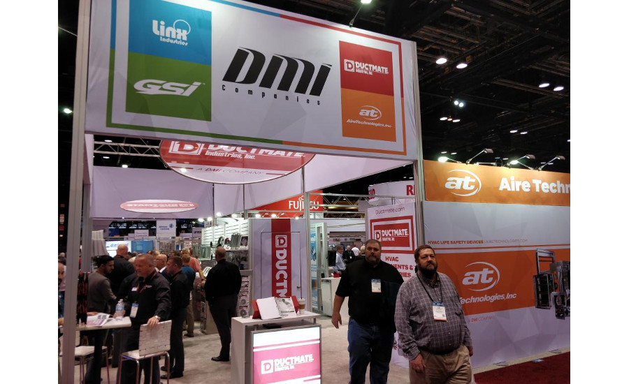 All of the DMI Cos. brands, including Ductmate and GreenSeam, were under one booth.