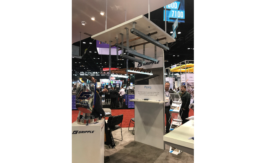 Gripple's Fast Trak rapid rigid support is on display at the AHR Expo.