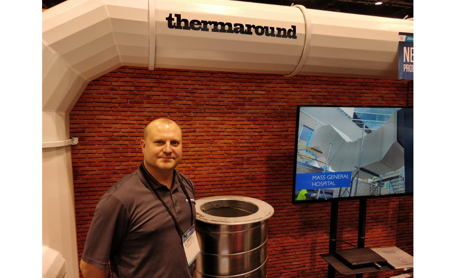 Brent Nicols with Thermaround, the new spiral duct alternative from Thermaduct.