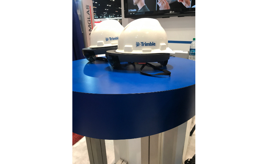Trimble unveiled its VR headset that works with the TrimbleConnect app, at the AHR Expo.