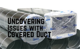 Elastic banded, reusable plastic duct covers.