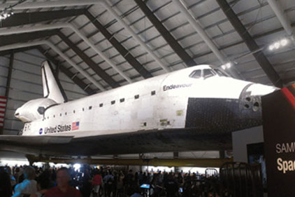 HVAC design protects space shuttle museum display