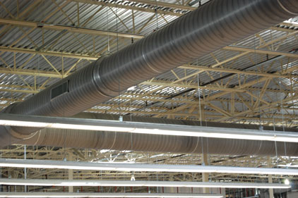Contractor Manufacturer Team Up For Grocery Spiral Duct
