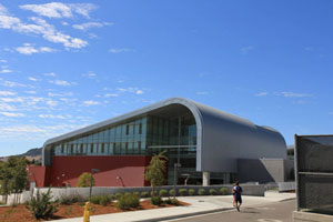 California university recreation center has curved top installed